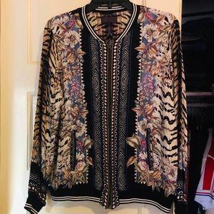 NWOT Hale Bob Long Sleeve Printed Jacket S